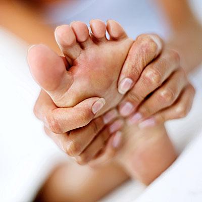 Женский оргазм с помощью массажа ног