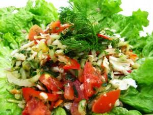 как приготовить витаминный салат из овощей и фруктов