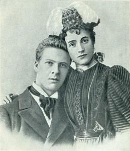 Федор Шаляпин с женой Иолой Торнаги