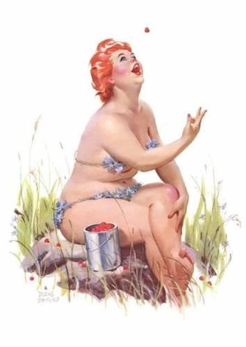 толстушка хильда,веселая хильда,хильда комикс,хильда duane bryers