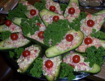 Салат авакадо креветки