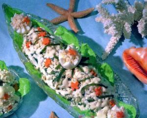 алат с креветками и рисом,легкий салат с креветками,праздничный салат с креветками