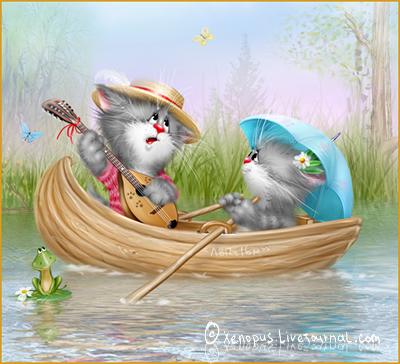 картинки смешные коты нарисованные