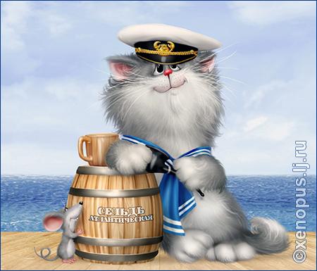 Коты для хорошего настроения Prikolnyie-risunki-kotov-moryachok