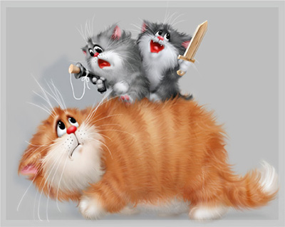 Рисунки с котом или с кошкой