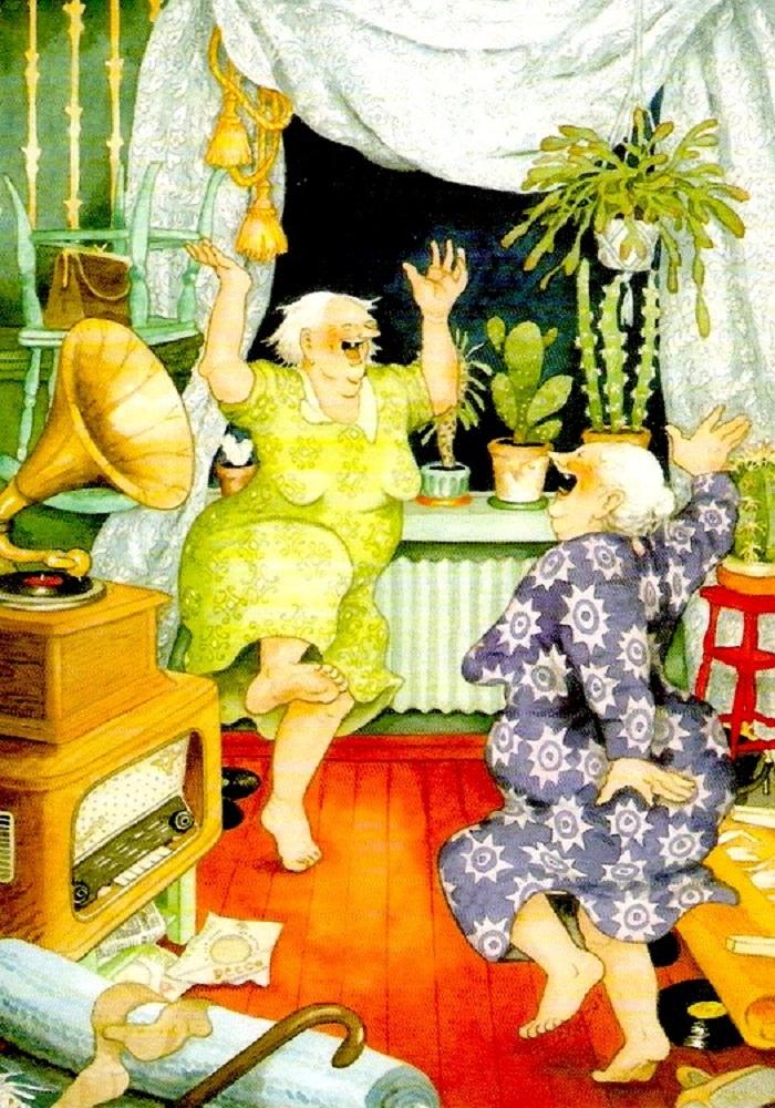фото весёлых бабушек