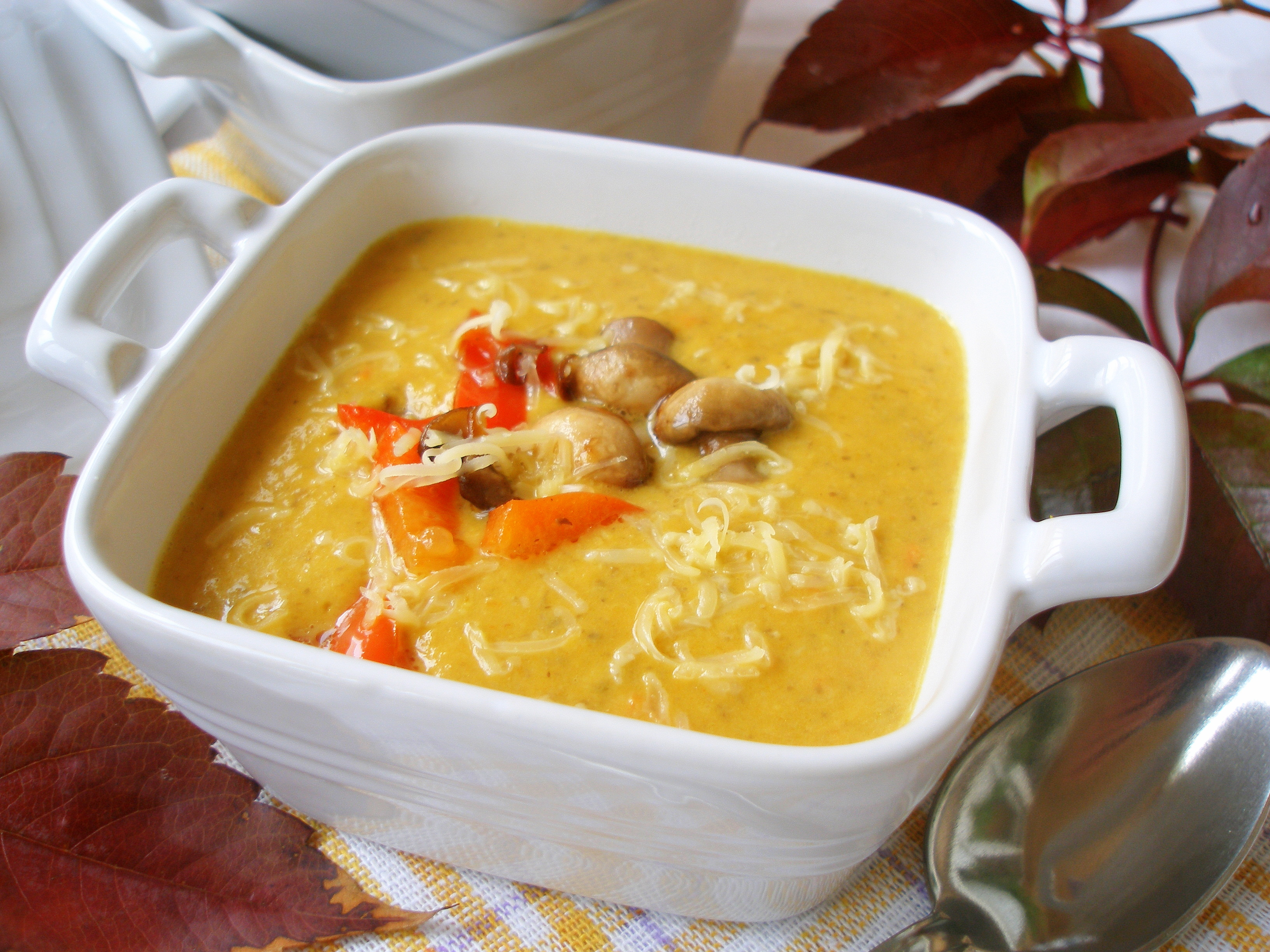 суп-пюре из тыквы со сливками рецепт с фото
