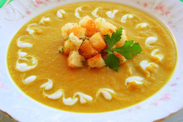 суп пюре  из тыквы рецепт рецепт