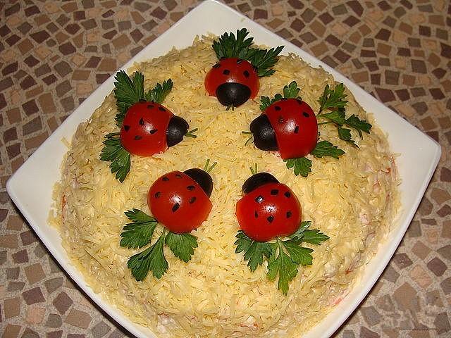 Как украсить салат своими руками фото