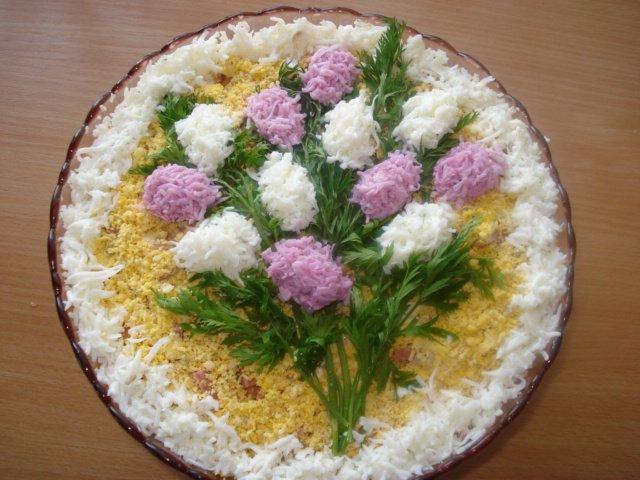 как красиво украсить салаты фото