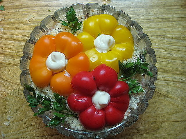 Украшения на салаты своими руками фото