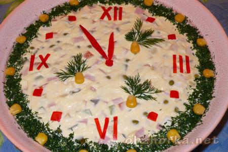 салат-часы