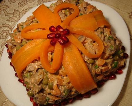 салат с бантиком