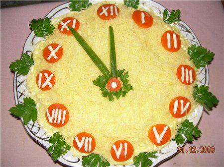 салат с часами
