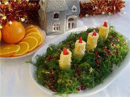 салат со свечами