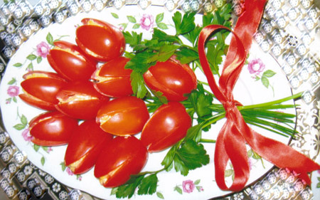 салат-тюльпаны