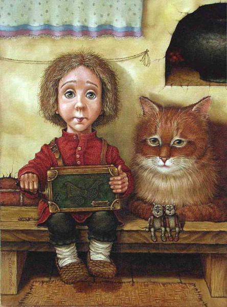 сказочные коты_Маскаев_Грусть (домовёнок)