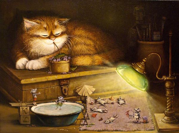 сказочные коты_Маскаев_Канары отдыхают...