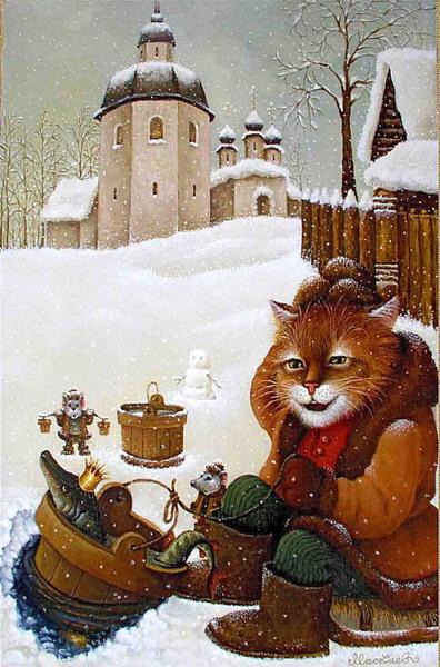 сказочные коты_Маскаев_Повезло то как