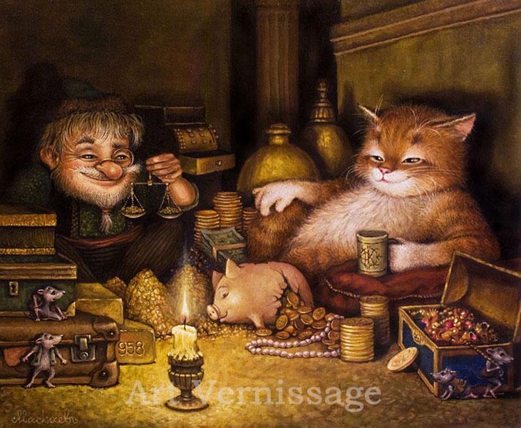 сказочные коты_Маскаев__Dengi_lyubyat_schet