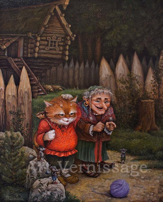 сказочные коты_Маскаев__Volshebnuyy_klubok