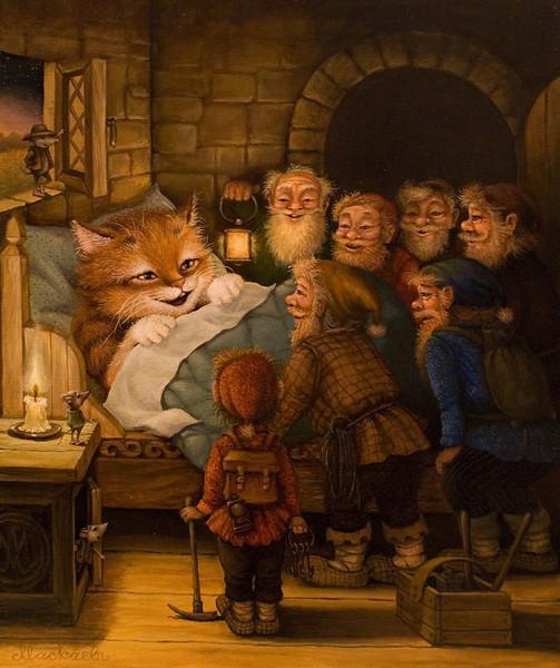 сказочные коты_Маскаев__семь гномов(ой, кто это)