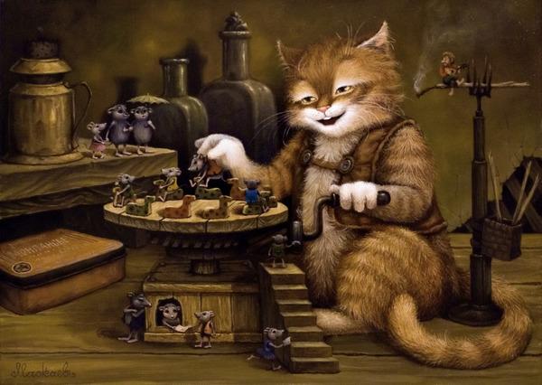 сказочные коты_Маскаев_карусель