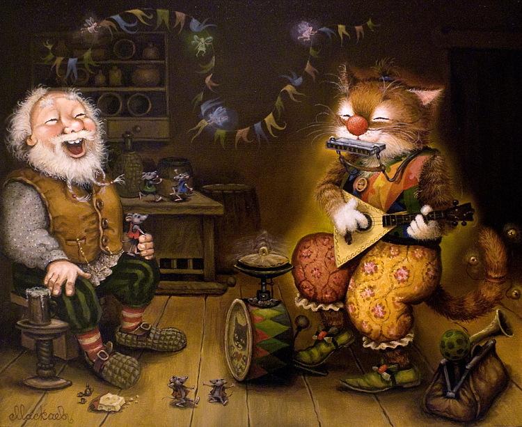 сказочные коты_Маскаев_кот-оркестр