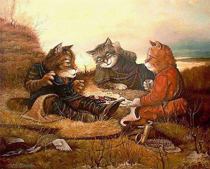 сказочные коты_Маскаев_коты на привале