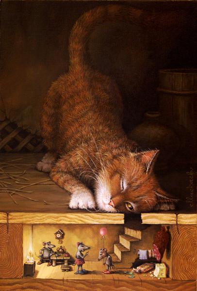 сказочные коты_Маскаев_коты_эх...сынок...