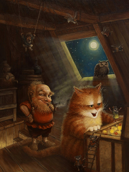 сказочные коты_Маскаев_одна тз стареньких работ на тему кладов