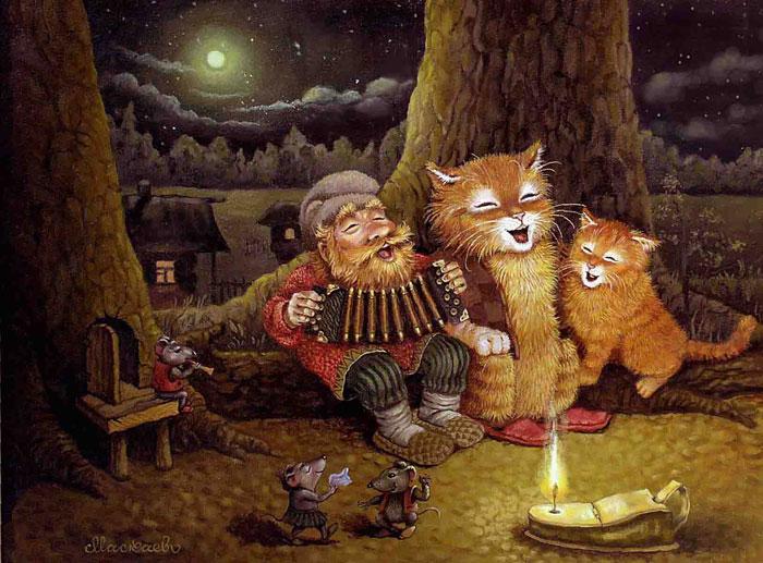 сказочные коты_Маскаев_поющие не в терновнике