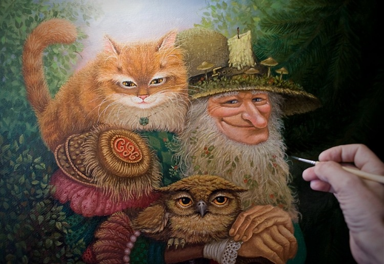 сказочные коты_Маскаев_процесс