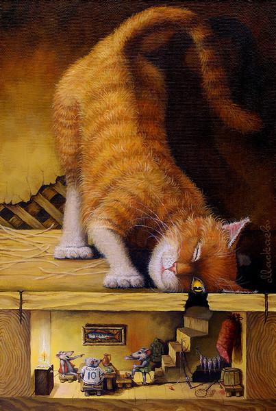 сказочные коты_Маскаев_смотри в оба