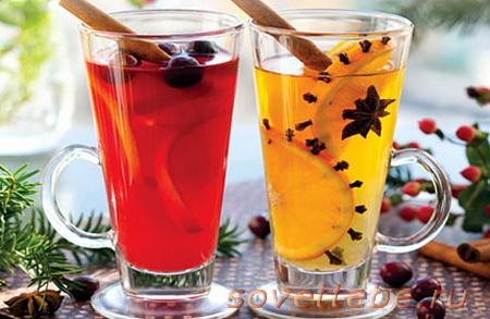 горячие напитки_лимонный чай с бузиной
